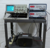 Oscilloscope, 2 Frequency Generators, and a Speaker