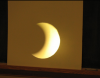 projection screen with eclipse image