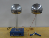 Van de Graaff generator is connected to the grounding device.