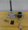 Electromagnet with iron core sits next to power stat.
