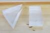 Triangular plastic block and rectangular plastic block