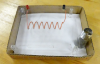 Solenoid of wire woven through plexiglass