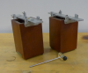 Two resonance boxes and a mallet