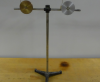 Two pulleys of different masses mounted on a stand rod