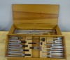 Box of tuning forks and sound rods